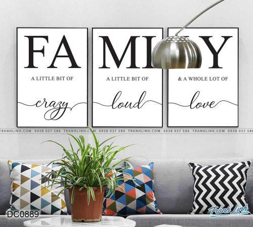 tranh chu family