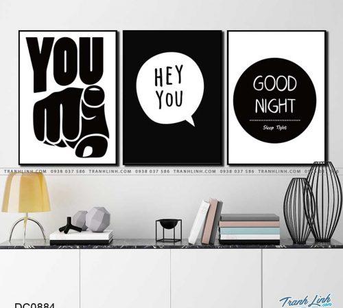 tranh chu good night