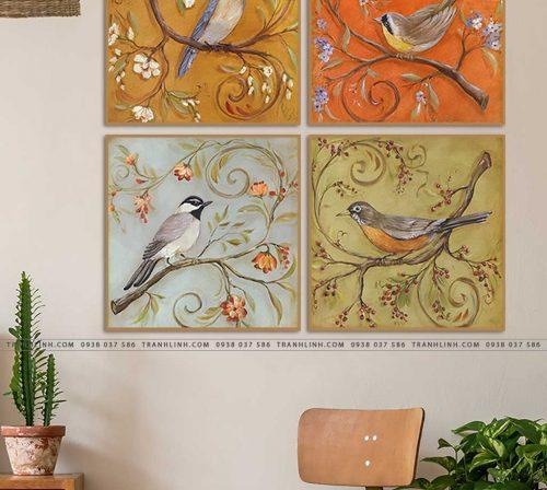 tranh con chim 2