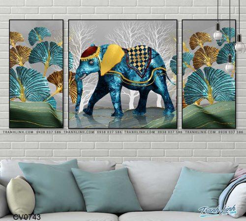 tranh con voi 12