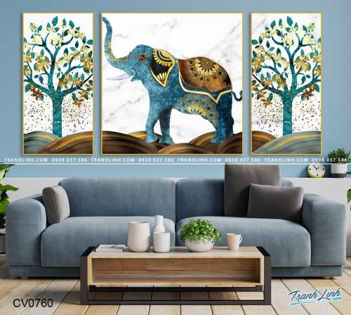 tranh con voi 15