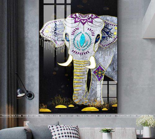 tranh con voi 16