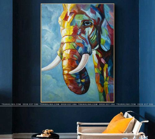 tranh con voi 2