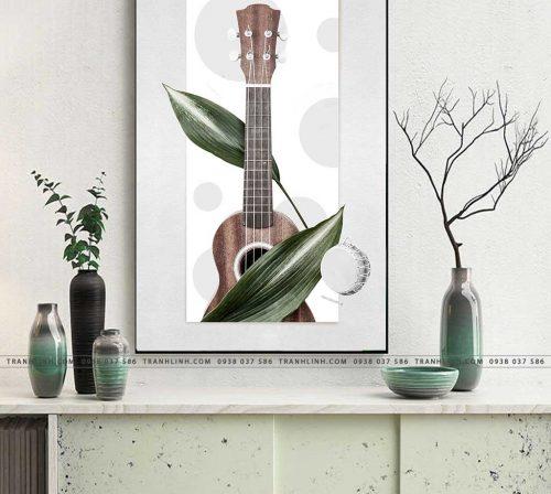 tranh dan guitar