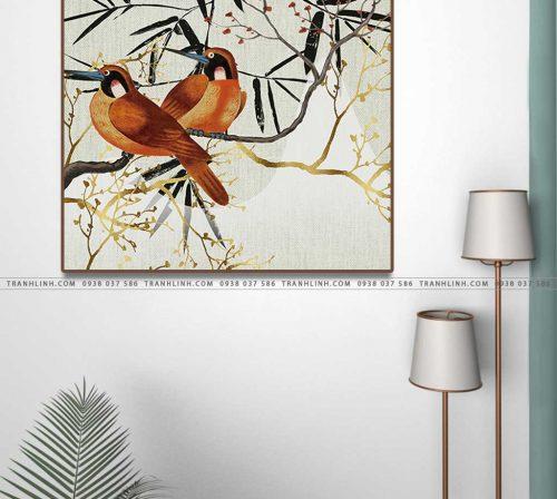 tranh doi chim 1