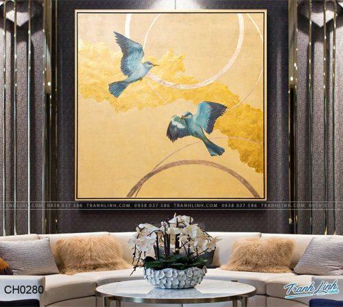 tranh doi chim 3
