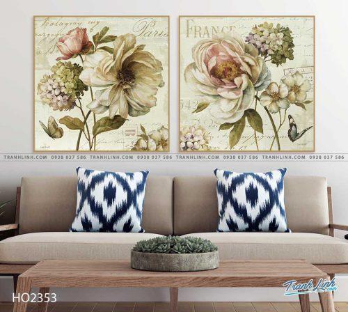 tranh hoa hong 10
