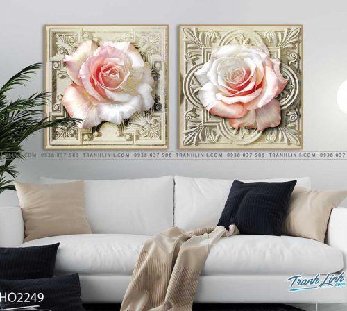 tranh hoa hong 2