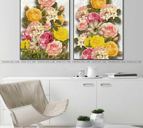 tranh hoa hong 3