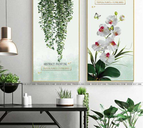 tranh hoa lan 2