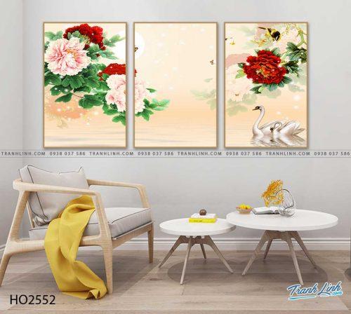 tranh hoa mau don 23