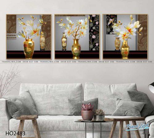 tranh hoa moc lan 25