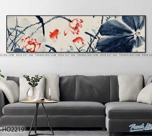 tranh hoa sen 15