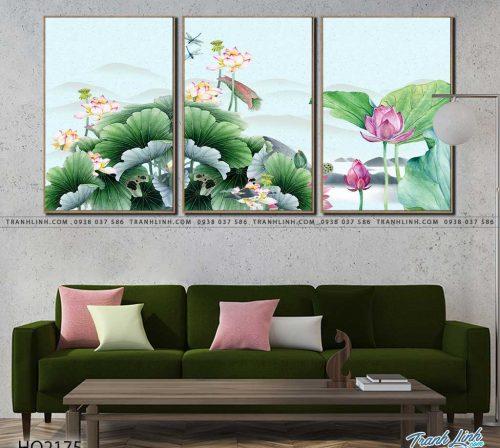 tranh hoa sen 2