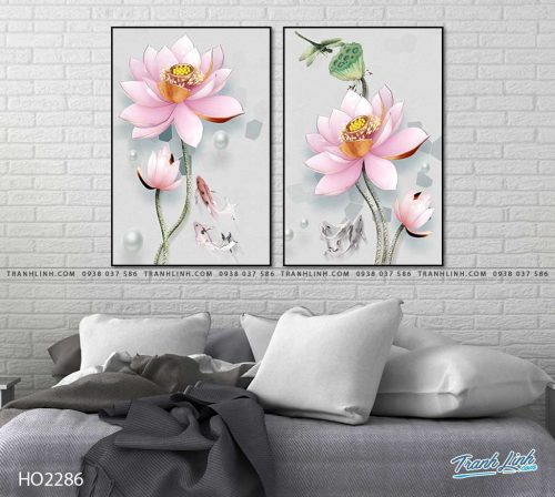 tranh hoa sen 34