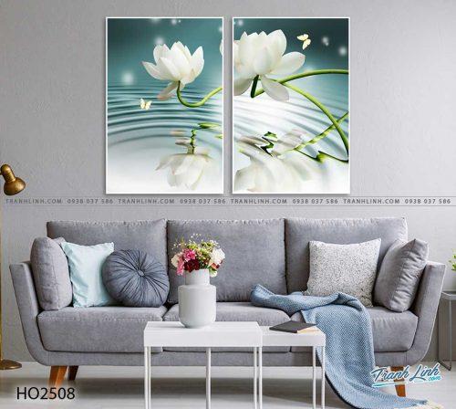 tranh hoa sen 60