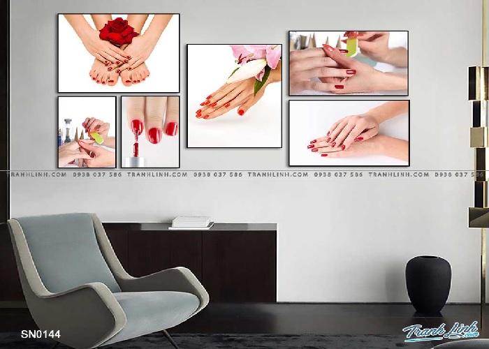 Tranh treo tường tiệm nail hiện đại