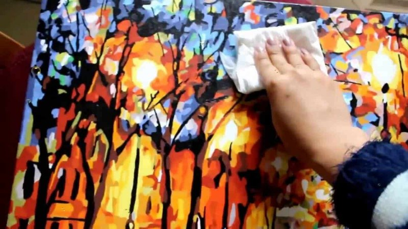 cách vệ sinh tranh sơn dầu
